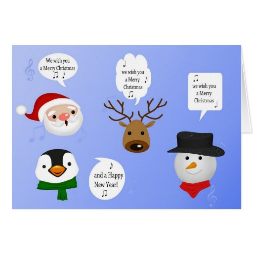 Cute and Funny Christmas - Greeting Card