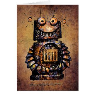 Cute and Funny Custom Kid's Robot Happy Birthday Card