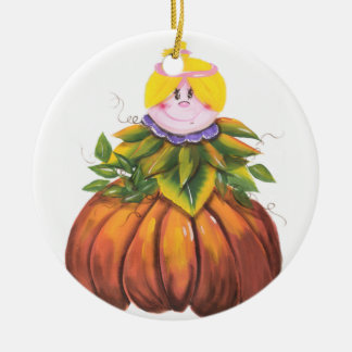 Cute and Funny Halloween Round Ceramic Decoration