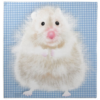 Cute and funny hamster printed napkin