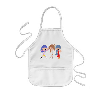Cute and Funny Kids Apron for Girls