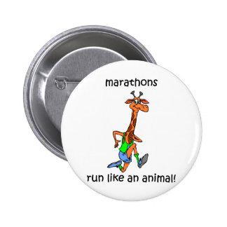 Cute and funny marathon 6 cm round badge