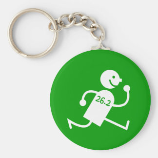 Cute and funny marathon basic round button key ring