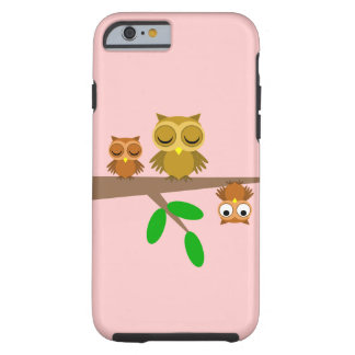 cute and funny owls tough iPhone 6 case