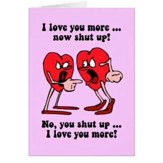 Cute and funny Valentine s Day Greeting Card