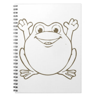 Cute and Happy Cartoon Frog Notebook
