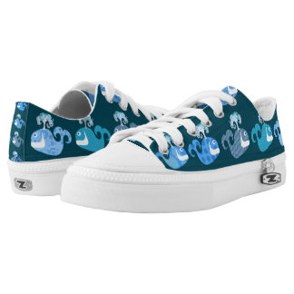Cute and Happy Whales Low Tops