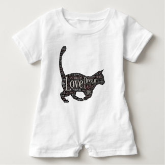Cute and inspirational Baby Romper with black cat Baby Bodysuit