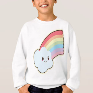 Cute and Loving Smiling Rainbow and Cloud Sweatshirt