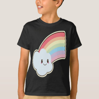 Cute and Loving Smiling Rainbow and Cloud T-Shirt