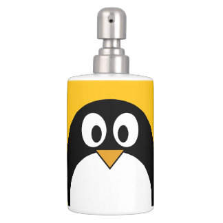 Cute and Modern Cartoon Penguin Bathroom Set