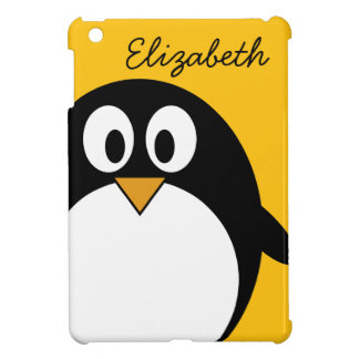 Cute and Modern Cartoon Penguin iPad Mini Cases
