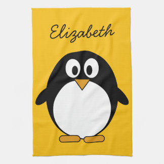 Cute and Modern Cartoon Penguin Tea Towel