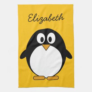 Cute and Modern Cartoon Penguin Tea Towels