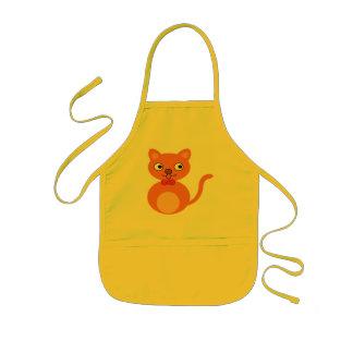 Cute and Orange Cat Kids Apron