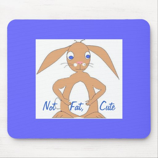 Cute, and perhaps fat, rabbit mouse pads