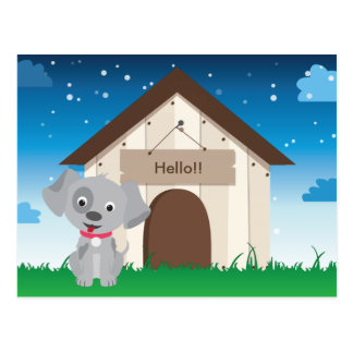 Cute and Playful Puppy or Dog Postcard