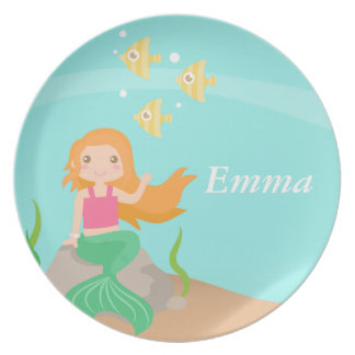 Cute and Pretty Mermaid, Underwater Legend Plate