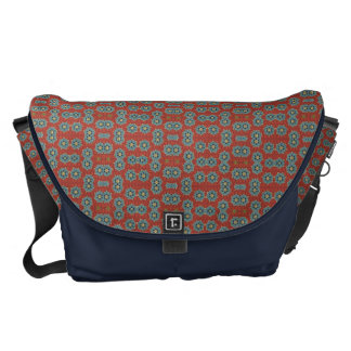 Cute and Quaint Floral - Red and Blue Messenger Bag