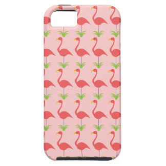 Cute and Retro Pink Lawn Flamingo Pattern iPhone 5 Cases
