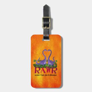 Cute and Romantic Dinos - Rawr Luggage Tag