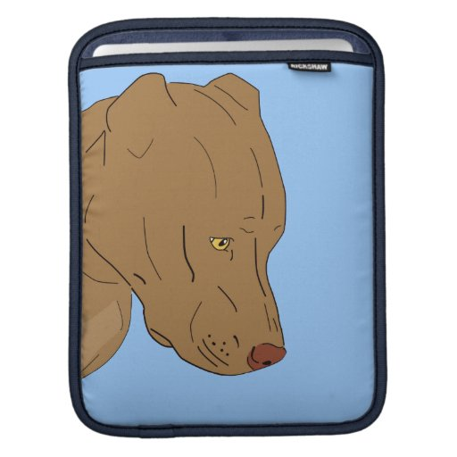 Cute and Sad Pit Bull Portrait Sleeve For iPads