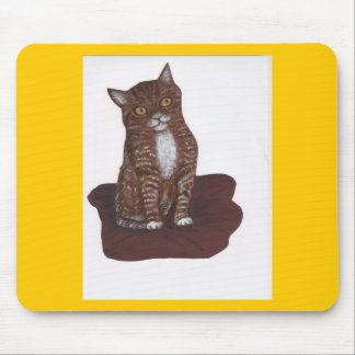 Cute and scary Kitten Mouse Pad