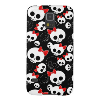 Cute and Scary Skulls Galaxy S5 Cover