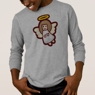 Cute and Simple Christmas Angel   Sleeve Shirt