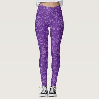 Cute and Simple Purple Halloween Pattern Leggings