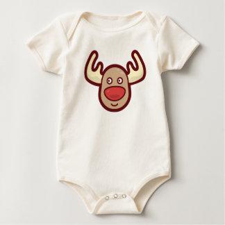 Cute and Simple Rudolf Reindeer | Bodysuit