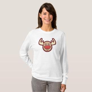 Cute and Simple Rudolf Reindeer   Sleeve Shirt