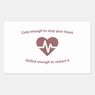 Cute and skilled nurse design rectangular sticker