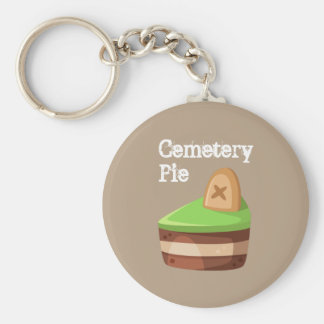 Cute and Sweet Cemetery Pie Key Ring