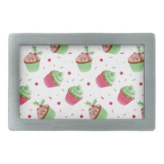 Cute and sweet Christmas colored cupcakes Belt Buckle