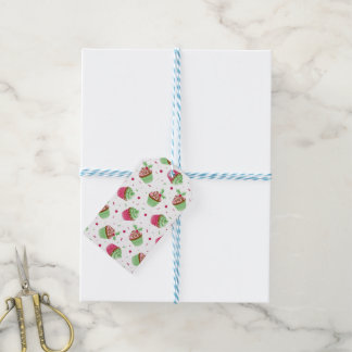 Cute and sweet Christmas colored cupcakes Gift Tags