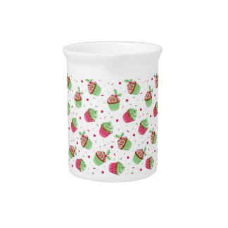 Cute and sweet Christmas colored cupcakes Pitcher