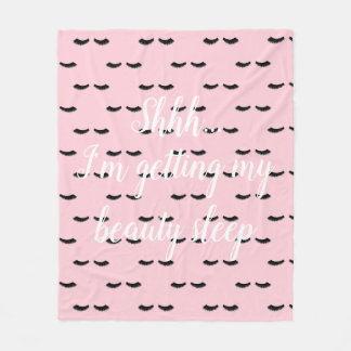 Cute and Trendy with Quote Small Fleece Blanket