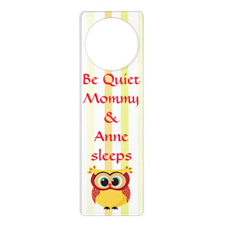 Cute and unique cartoon owl door hanger