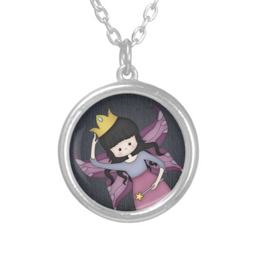 Cute and Whimsical Little Fairy Princess Girl Personalized Necklace