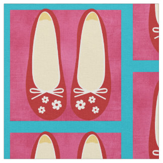 Cute and Whimsical Red Shoes Fabric