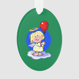 Cute Angel And Red Balloon