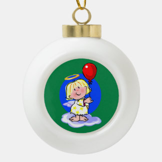 Cute Angel And Red Balloon Ornaments