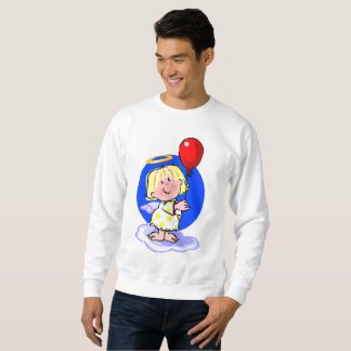 Cute Angel And Red Balloon Sweatshirt