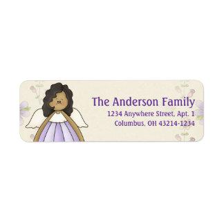 Cute Angel Antics Angel Girl d6 Address Labels