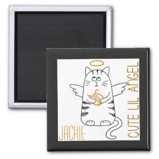 Cute Angel Cat Magnet