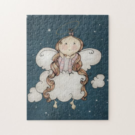 Cute Angel Children's Art Jigsaw Puzzle