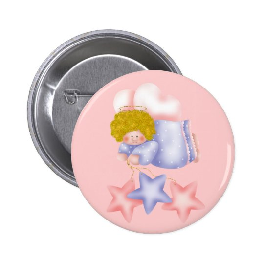Cute Angel Star 1 6 Cm Round Badge