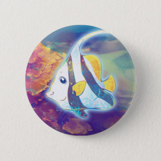Cute Angelfish 6 Cm Round Badge