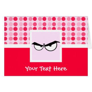 Cute Angry Eyes Card